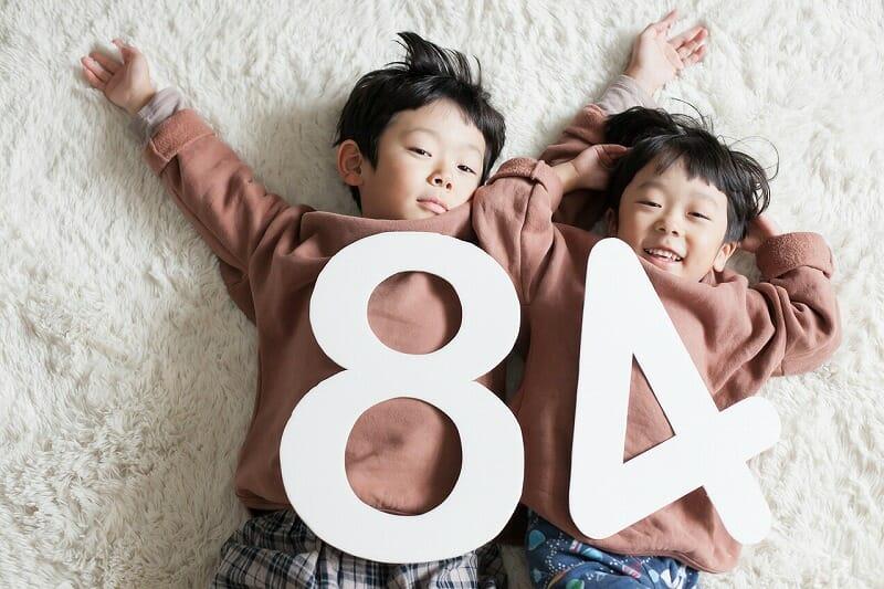 子ども写真,8歳記念写真,4歳記念写真,兄弟
