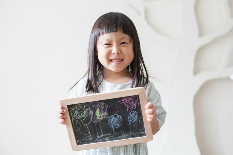 お絵かき,黒板,子ども写真,記念写真