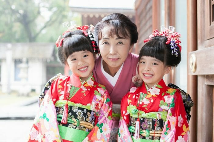七五三,7歳,双子写真,家族写真,出張撮影