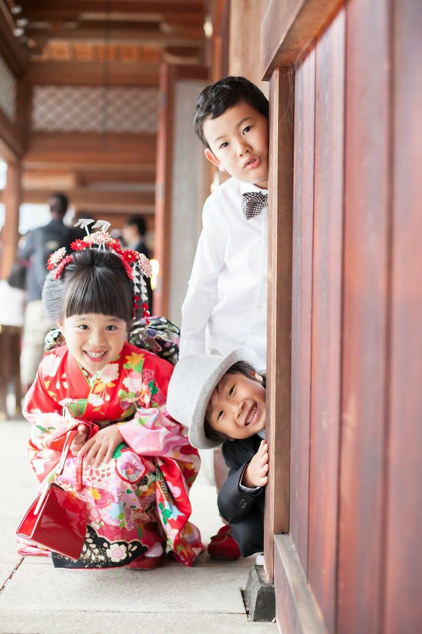 七五三,7歳,家族写真,出張撮影