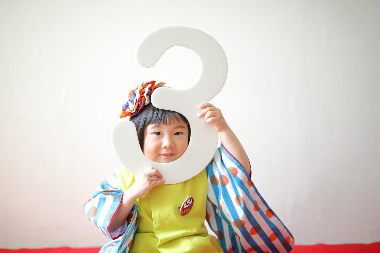 3歳七五三,七五三被布,3歳被布,東京スタジオ,七五三撮影