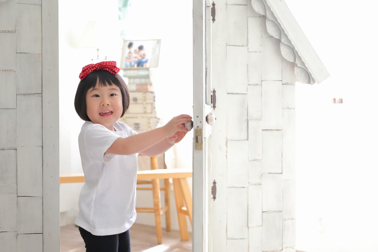 家族撮影,七五三撮影,お着替え可,東京スタジオ,3歳七五三,3歳女子