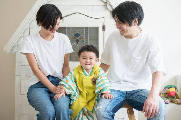 3歳男の子,家族撮影,記念撮影,七五三撮影,3歳男の子七五三