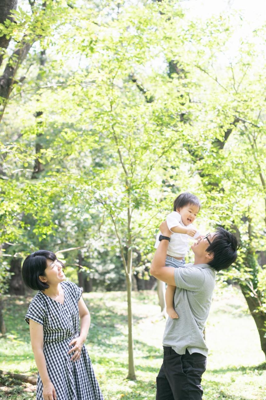 1歳男の子,記念写真,スタジオ撮影,代々木公園