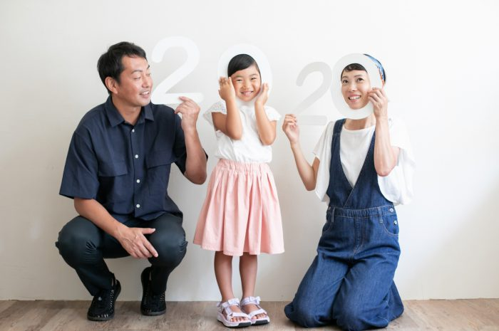 5歳女の子,家族撮影,記念撮影,東京スタジオ,誕生日撮影