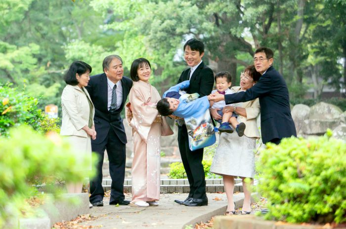 七五三出張撮影,祖父母も一緒,家族撮影,出張撮影