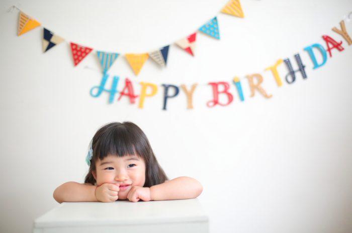 2歳女の子 誕生日記念写真