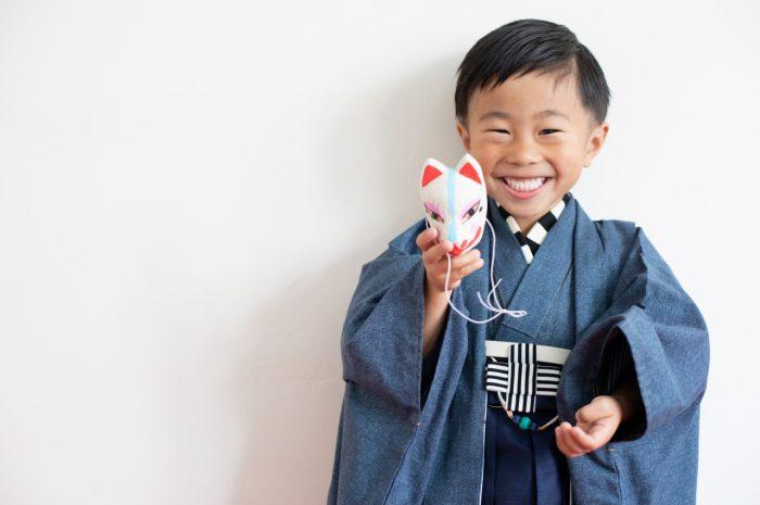 5歳七五三,七五三5歳,羽織袴,家族写真,東京スタジオ