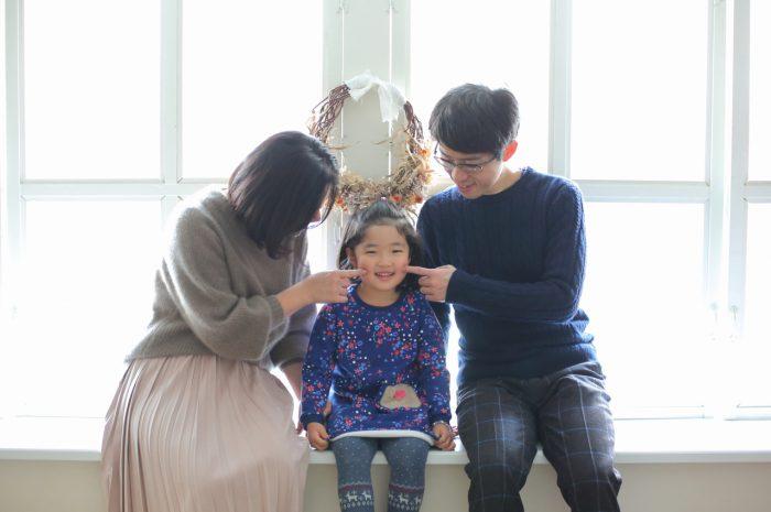 5歳誕生日記念写真,家族写真,子ども写真,スタジオ撮影