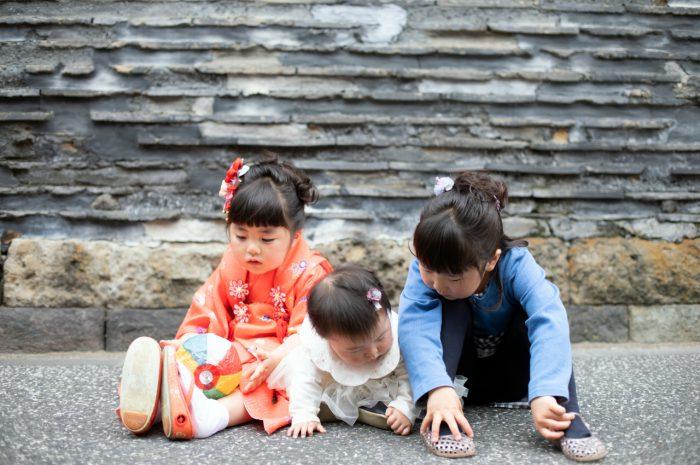 三姉妹の出張撮影。