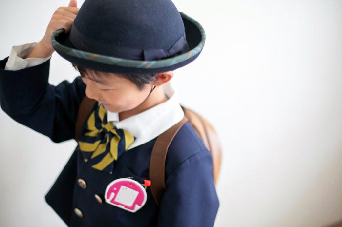 幼稚園の制服でスタジオで卒園写真6