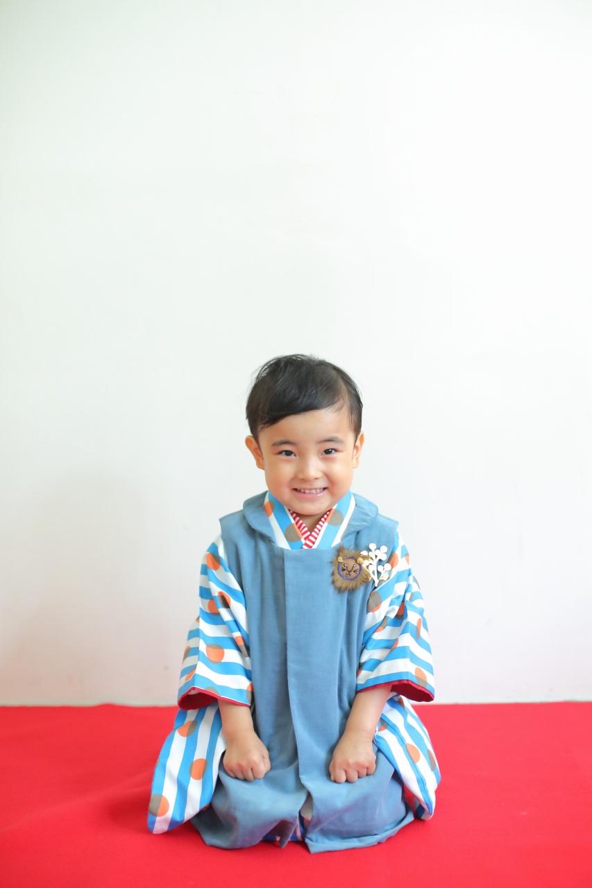 3歳男の子の七五三撮影,被布姿