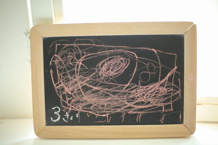 3歳男の子の七五三撮影,お絵かき撮影もしたよ