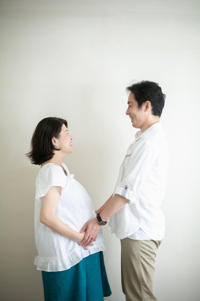 38週のマタニティフォト,もうすぐ出産!久しぶりのツーショット