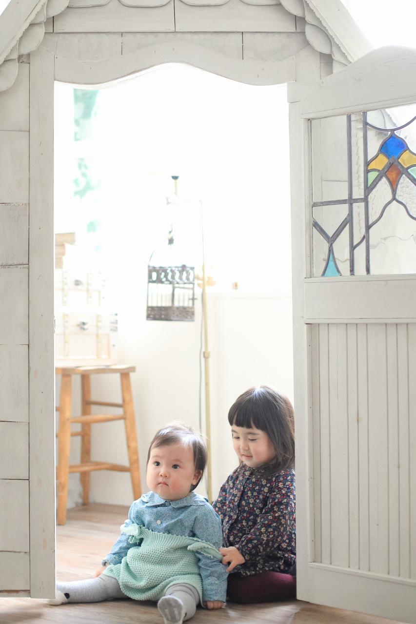 3歳お姉ちゃんと1歳妹の姉妹撮影