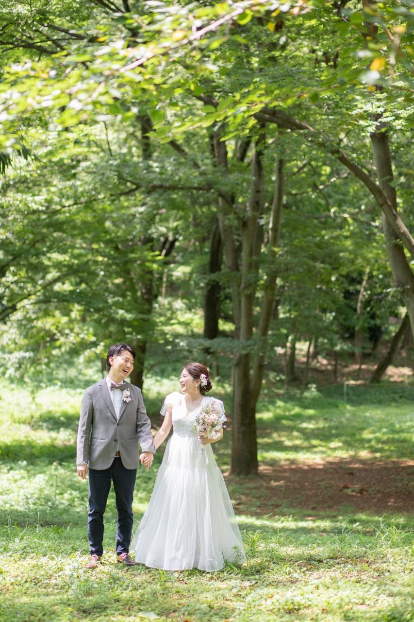 フォトウエディング,前撮り,持ち込み衣装,持ち込みドレス,持ち込みウエディングドレス,代々木公園ロケーションフォト
