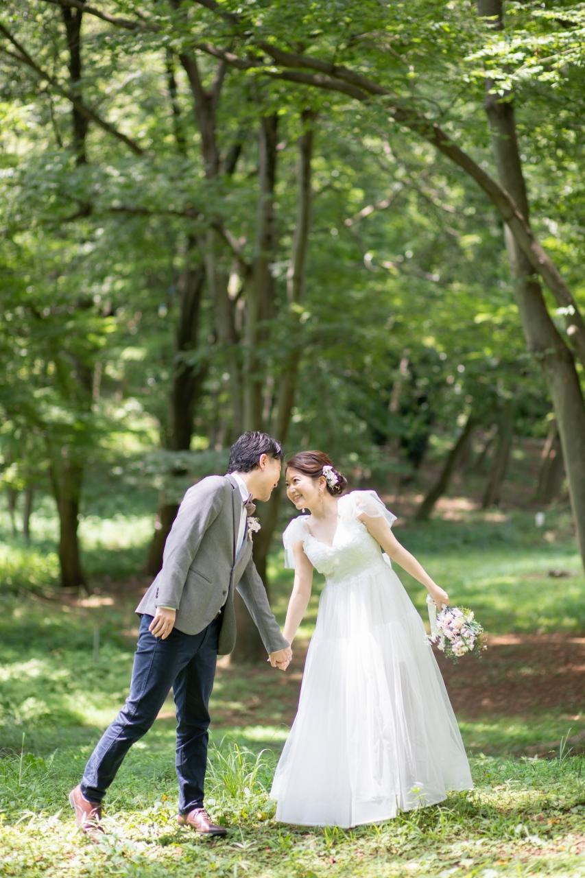 フォトウエディング,前撮り,持ち込み衣装,持ち込みドレス,持ち込みウエディングドレス,代々木公園