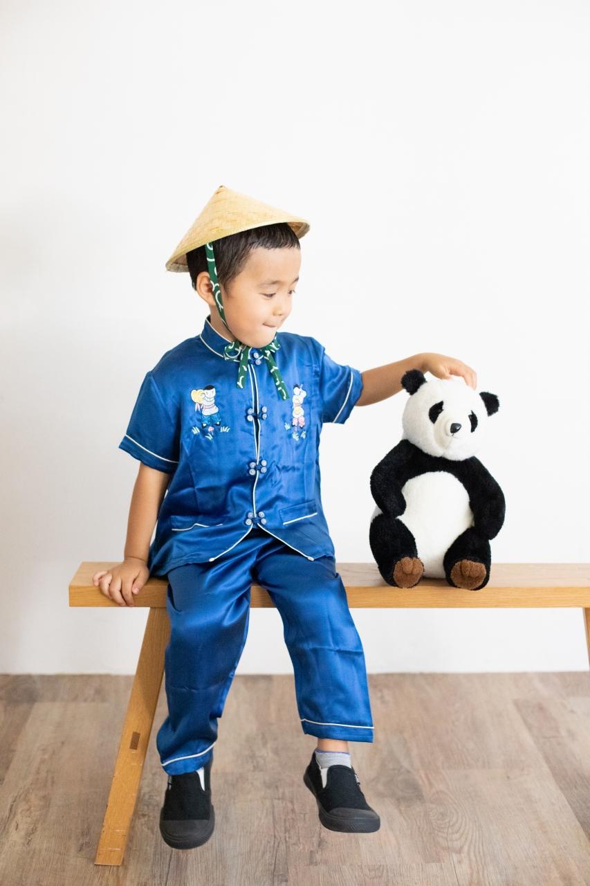 5歳七五三撮影,5歳七五三,かっこかわいい,パンダと一緒