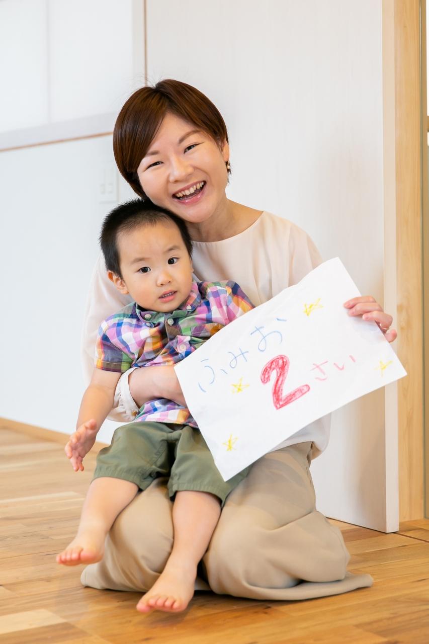 出張撮影,2歳男の子撮影,2歳誕生日記念撮影,自宅で撮影