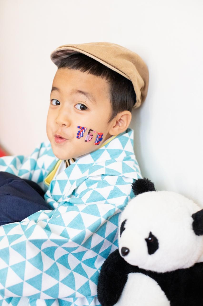 5歳七五三撮影,5歳七五三,かっこかわいい,着物にベレー帽
