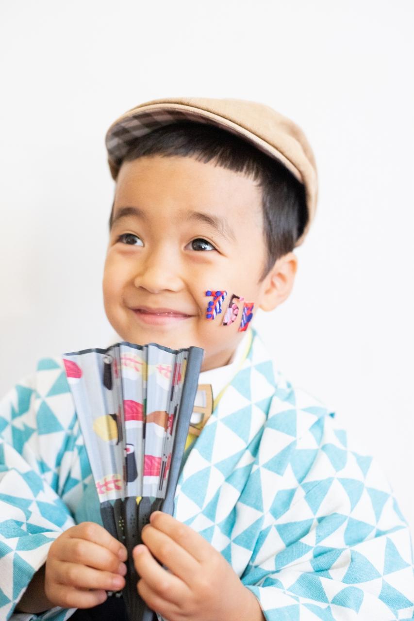 5歳七五三撮影,5歳七五三,かっこかわいい,お寿司大好物