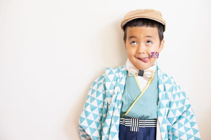 5歳七五三撮影,5歳七五三,かっこかわいい,753,舌ぺろ