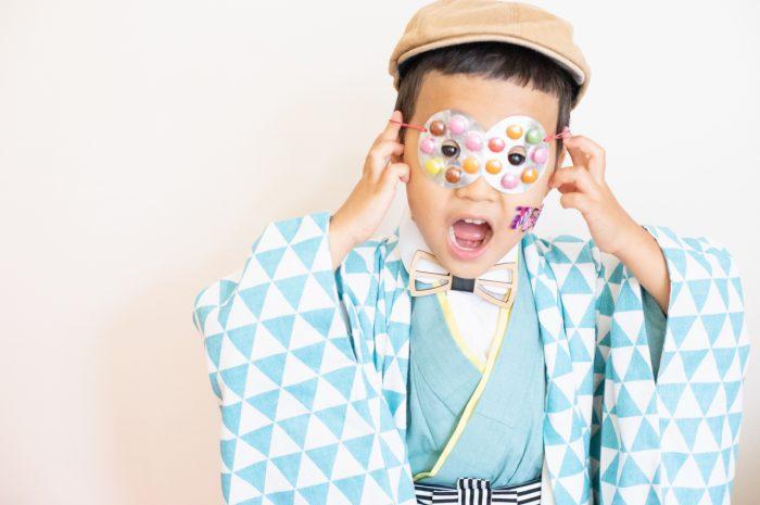 5歳七五三撮影,5歳七五三,かっこかわいい,753,チョコメガネ