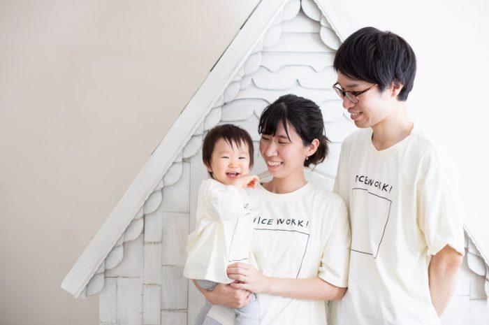 1歳女の子誕生日記念撮影,3人家族,家族写真,1歳誕生日,3ショット