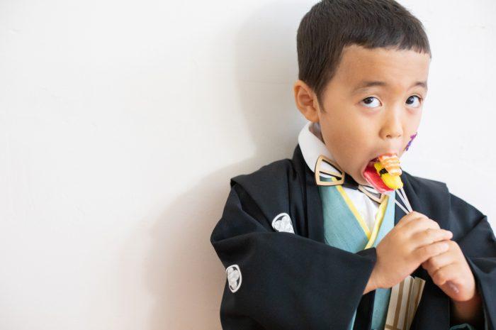 5歳七五三撮影,5歳七五三,かっこかわいい,753家族写真,お寿司の飴ちゃん