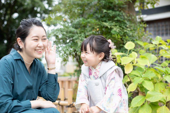 伊勢山皇大神宮で七五三出張撮影,3歳七五三,ママと娘