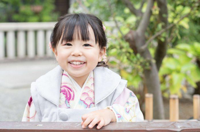 伊勢山皇大神宮で七五三出張撮影,3歳七五三,いい笑顔