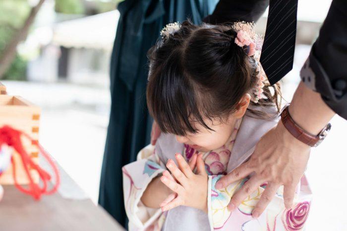 伊勢山皇大神宮で七五三出張撮影,3歳七五三,お参り風景
