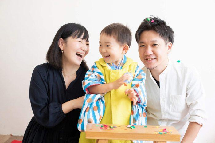三歳男の子七五三スタジオ撮影,3歳男の子七五三,いい笑顔