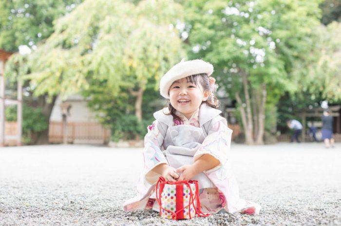 伊勢山皇大神宮で七五三出張撮影,3歳七五三,3歳女の子撮影