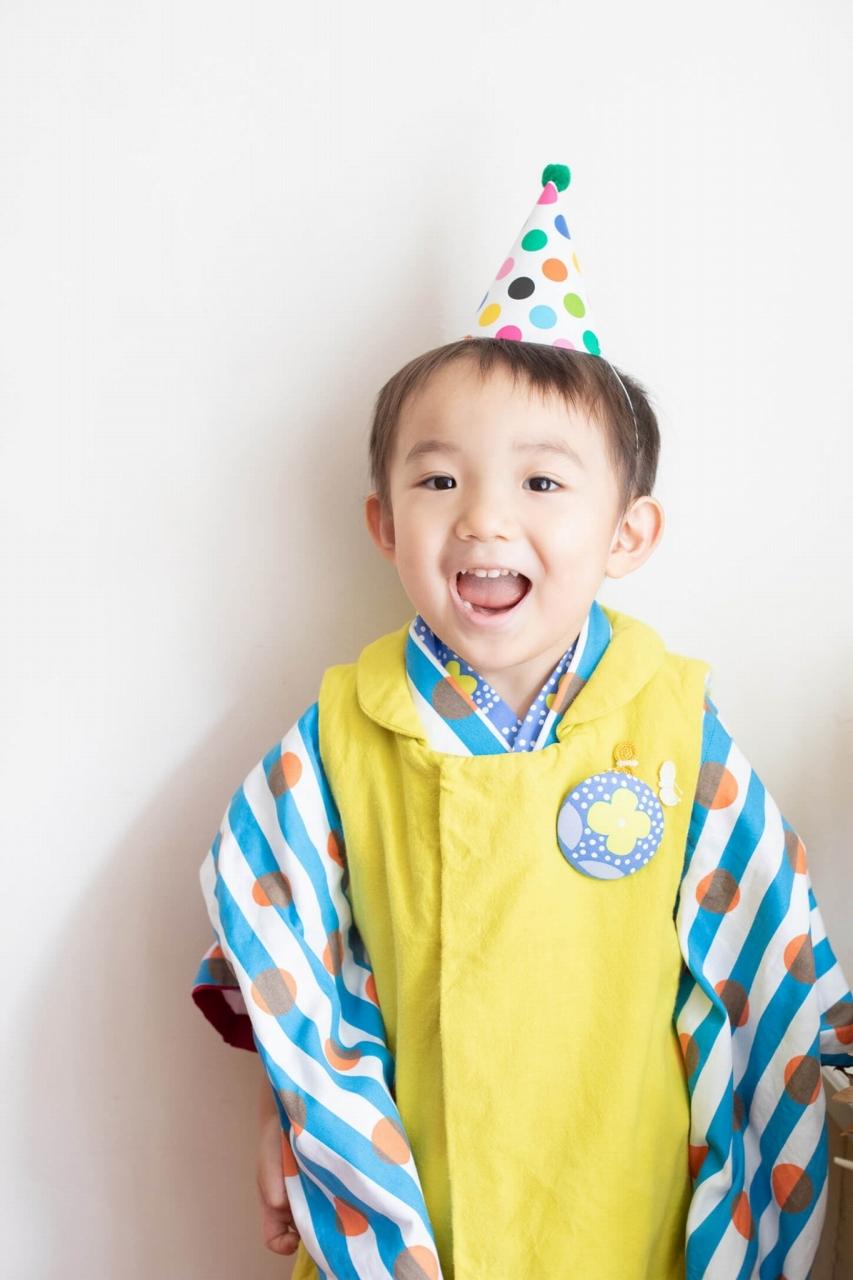 三歳男の子七五三スタジオ撮影,3歳男の子七五三,三角帽