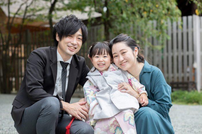 伊勢山皇大神宮で七五三出張撮影,3歳七五三,家族写真撮影
