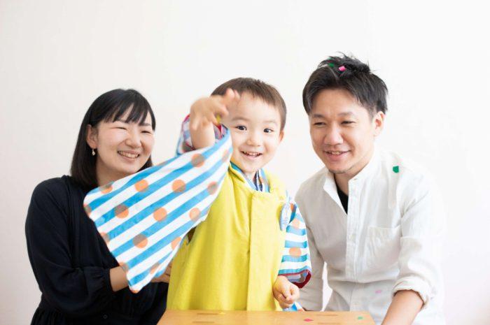 三歳男の子七五三スタジオ撮影,3歳男の子七五三,黄色が似合う