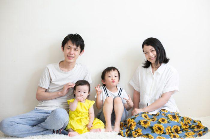 5歳七五三ともうすぐ1歳の兄妹撮影,家族撮影,家族写真,東京スタジオ,家族一緒