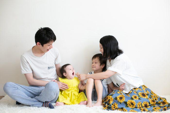 5歳七五三ともうすぐ1歳の兄妹撮影,家族撮影,家族写真,東京スタジオ,お兄ちゃんと妹