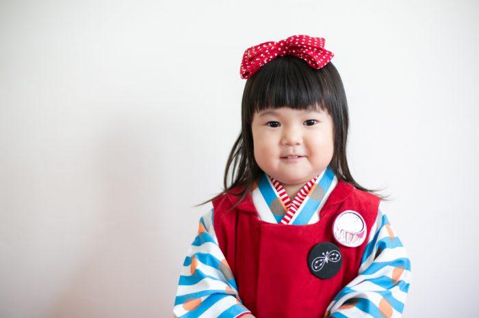 3歳七五三撮影,3歳女子,姉妹撮影,赤い被布