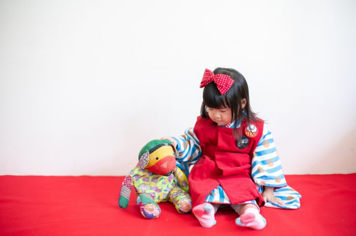 3歳七五三撮影,3歳女子,姉妹撮影,渋谷のスタジオ