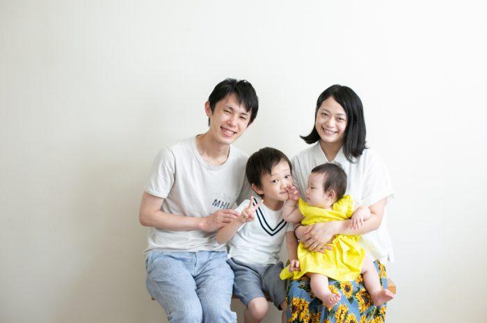 5歳七五三と0歳の兄妹撮影,家族撮影,家族写真,東京スタジオ