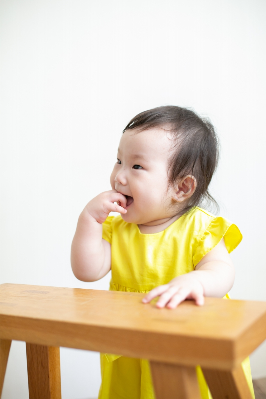 5歳七五三ともうすぐ1歳の兄妹撮影,家族撮影,家族写真,東京スタジオ,ソロショット