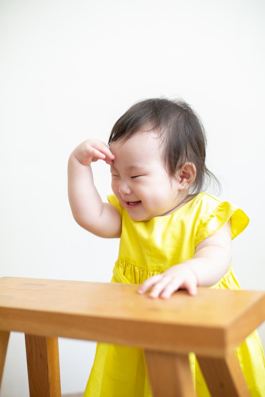 5歳七五三ともうすぐ1歳の兄妹撮影,家族撮影,家族写真,東京スタジオ,やっちまった