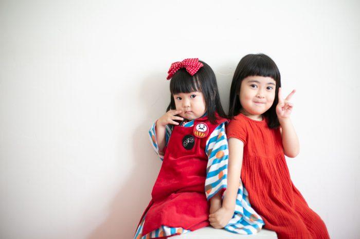3歳七五三撮影,3歳女子,姉妹撮影,なかよし