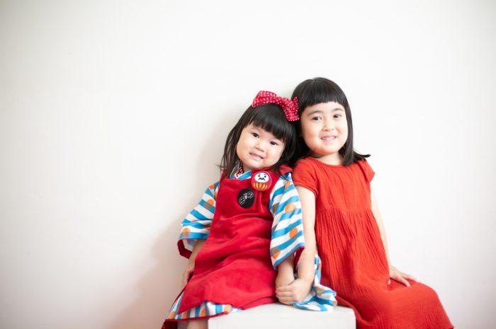 3歳七五三撮影,3歳女子,姉妹撮影,リンクコーデ撮影