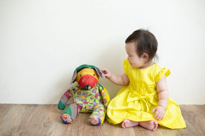 5歳七五三ともうすぐ1歳の兄妹撮影,家族撮影,家族写真,東京スタジオ,ぬいぐるみ