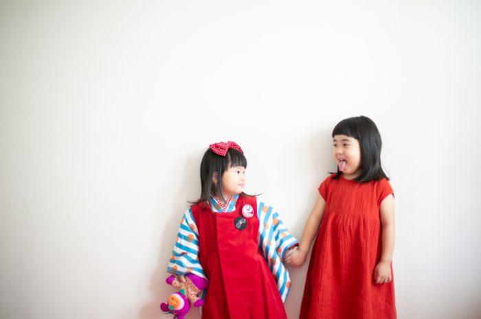 3歳七五三撮影,3歳女子,姉妹撮影,お揃い撮影