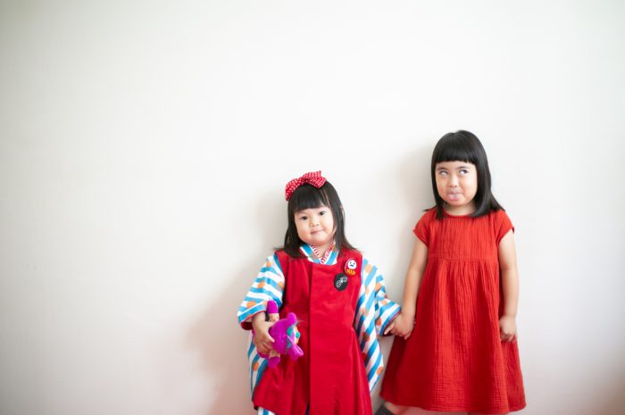 3歳七五三撮影,3歳女子,姉妹撮影,お揃い