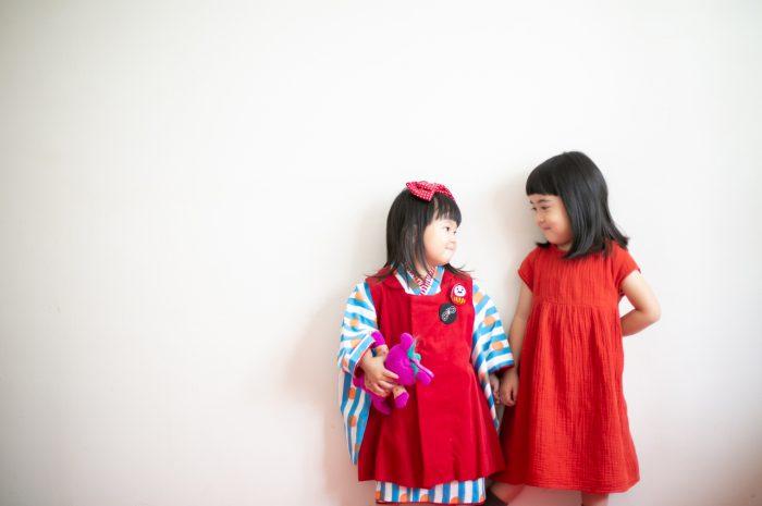 3歳七五三撮影,3歳女子,姉妹撮影,仲良し姉妹